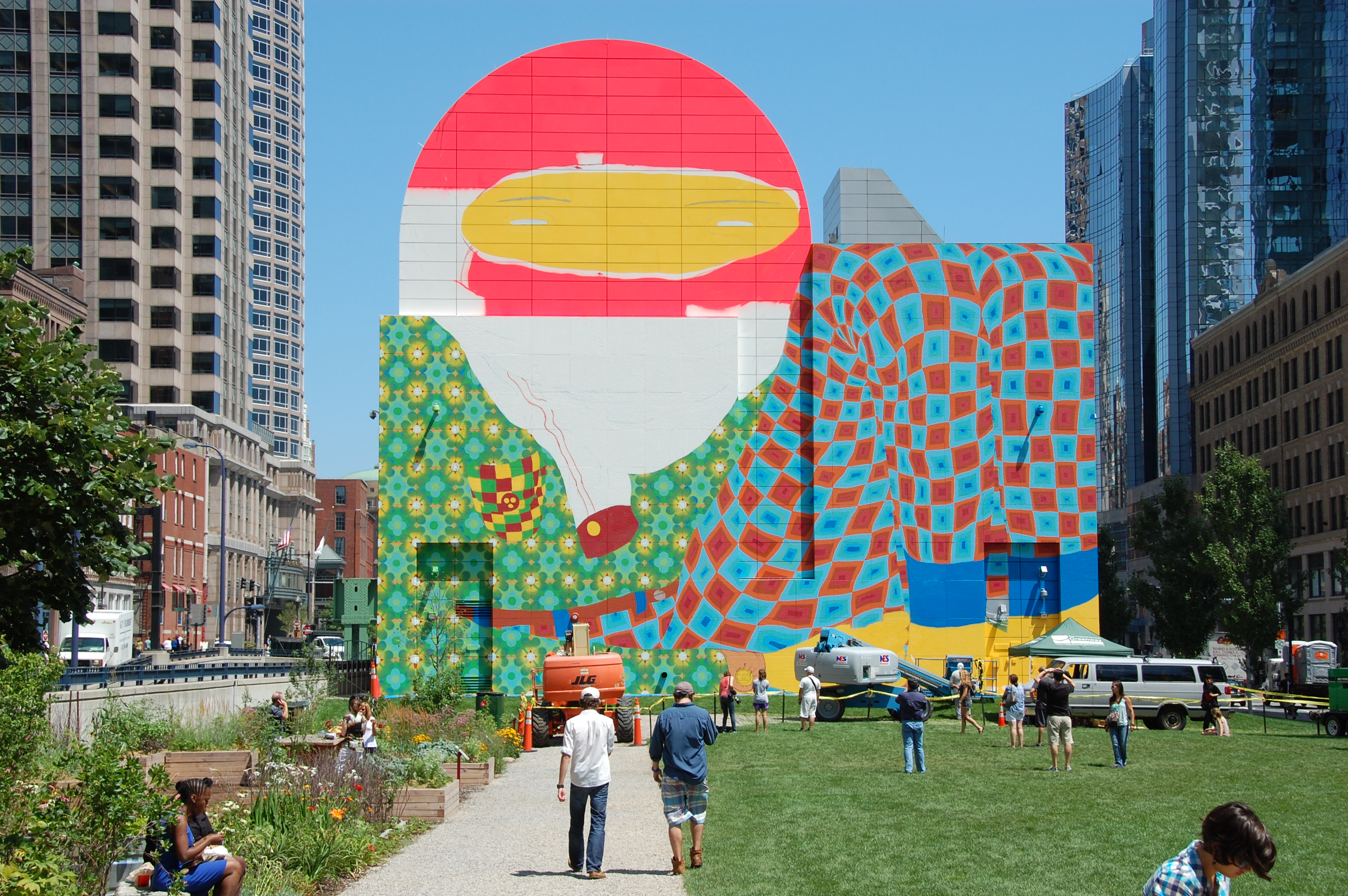 Os g meos color boston jennifer bruni for Dewey square mural