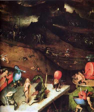 detail from Hieronymus Bosch's The Last Judgement, The Louvre Museum, Paris.