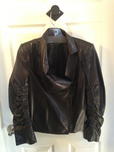 like buttah: Ann Demeulemeester leather at Kiki D