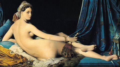 the original Grande Odalisque by Ingres, 1814 (Louvre Museum, Paris).