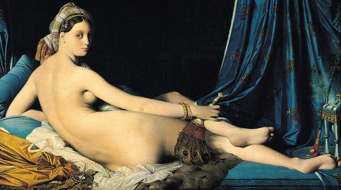 the original Grande Odalisque by Ingres, 1814 (Louvre Museum, Paris).