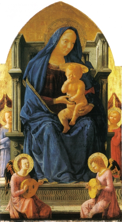 Madonna and Child. Masaccio, 1426 (Wikipedia)