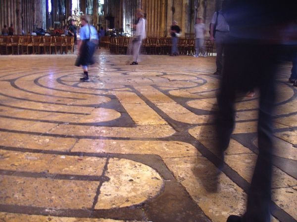 Labyrinth at Chartes Cathedral, France