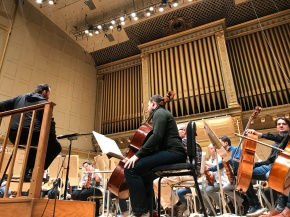 a view from the front row at the Boston Symphony Orchestra's rehearsal